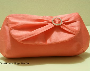 Silk Dupioni / Bridesmaid Clutches Choose your color  and amount Set of 7 / 8 / 9 or 10