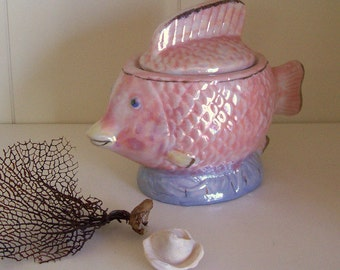 Little Fishy Figurine Jar