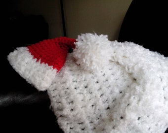Santa's Hat and Blanket Set Baby Photography Prop Newborn Size
