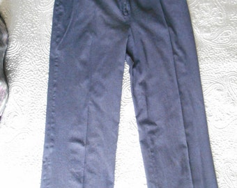 Navy wool cashmere trousers Marilyn Moore slightly felted W 32 L 30