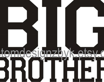 Big Brother shirt decal transfer Jersey style design