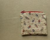 Double gauze Matryoshka zippered pouch