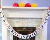 Nautical Wedding Decor - Lets Get Ship Faced Banner - Nautical Bridal Shower Decor- Anchors- Nautical Party Banner- Your Color Choice
