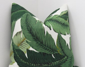 "Indoor/Outdoor Swaying Palms Aloe Pillow Cover - Palm Leaves Pillowcase 16"",18"", 20"" - Lumbar Pillow Cover"