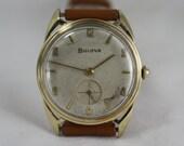 SERVICED Bulova 11 Ac 17 Jewel  Wristwatch  Fancy  Lugs Men's  Running  SALE!!!!