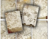 Lace tags instant download printable gift tags, labels  // vintage shabby chick , lace // tattered  //  digital Collage Sheet 196