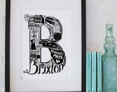 Best of Brixton limited edition screenprint // London Letters series