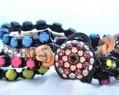 Wild and Free beaded bracelet