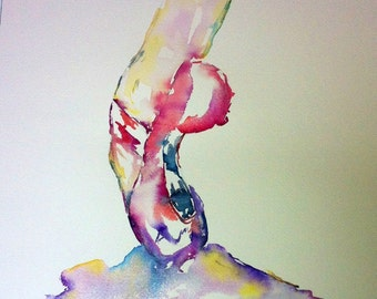 Pointe Shoes, Watercolor Ballet Painting, Dancer Painting, Dance, Dance Art, Ballerina
