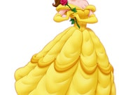 Princess Belle iron on transfer for white t-shirts