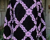 vintage 70s pink black pattern sweater L  nan dorsey made in usa