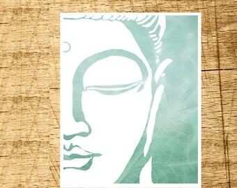 Buddha Art Print Wall Art Zen Poster Modern Yoga Namaste