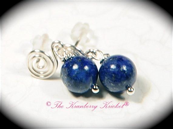 Lapis Lazuli Earrings, Boho Earrings, Hippie Earrings, Gift for her - Genuine Lapis Lazuli Gemstone Earrings