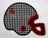 Gamecock Football Helmet Applique Design Machine Embroidery INSTANT DOWNLOAD