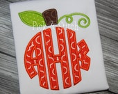 Pumpkin Monogram Topper Applique Design Machine Embroidery INSTANT DOWNLOAD
