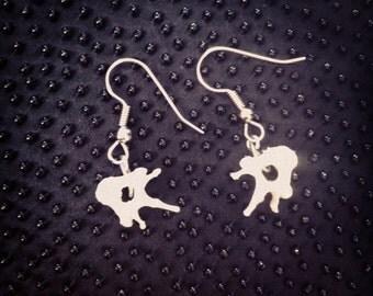 Small Vertebrae Earrings