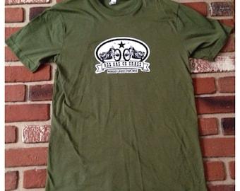 Ass Gas or Grass Transfer on Brand New medium Royal Apparel T-Shirt