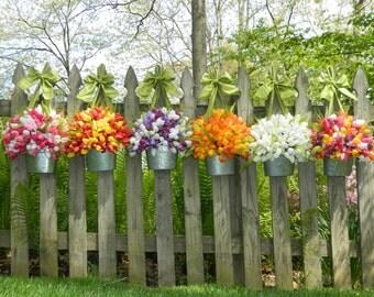 Tulip Fun Summer Wreath - Tulip Wreath - Pink Wreath - Easter Wreath  - Tulip Pail