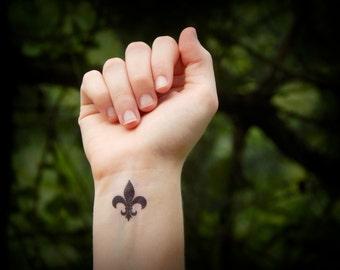 fleur de lis - temporary tattoo
