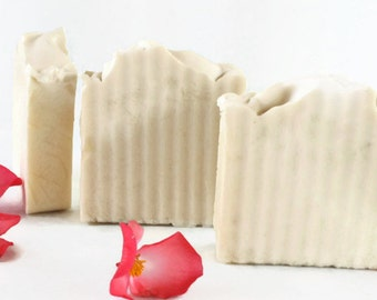 All Natural Coconut Milk and Shea Artisan Soap, Cold Process, Moisturizing, Great for Dry Winter Skin