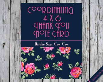 Add a Coordinating Thank You Note Card to any Invitation Purchase