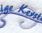 Prettige Kerstdagen Dutch Merry Christmas Embroidered Flour Sack Hand/Dish Towel