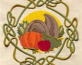Celtic Wheel of the Year - Mabon Embroidered Flour Sack Hand/Dish Towel