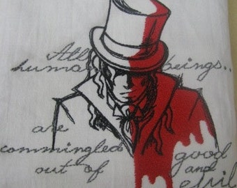 Dark Tales - Dr Jekyll and Mr Hyde Embroidered Flour Sack Hand Towel