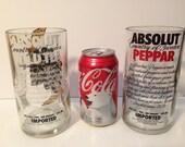 Absolut Vodka Perrar & Wild Tea Recycled Glasses - 750 ml - Set of 2