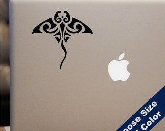 Tribal Stingray Decal - for Laptop, Car