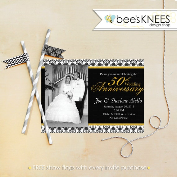 50th Wedding Anniversary Invitation 25th 30th 40th 50th 60th Customized for you