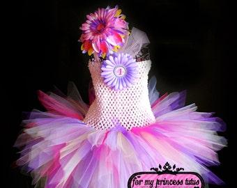 1st Birthday Tutu Dress & Headband - newborn tutu, infant tutu, baby tutu, toddler tutu, any birthday tutu, princess tutu, pink tutu, tutu