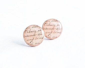 Beige stud earrings, romantic jewelry, large stud earrings