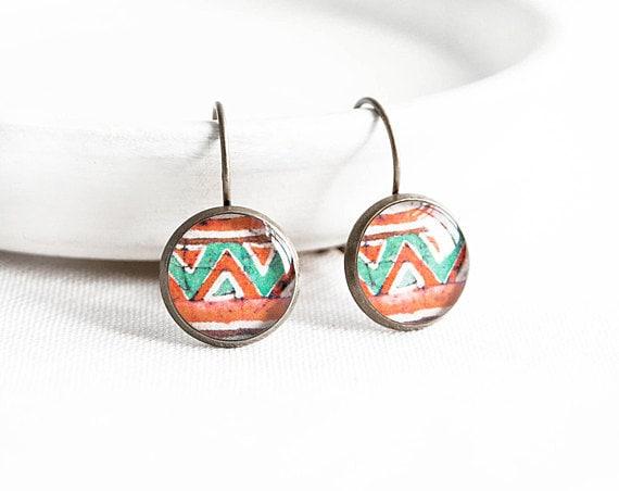 Tribal earrings ethnic jewelry native earings drop folk jewellery