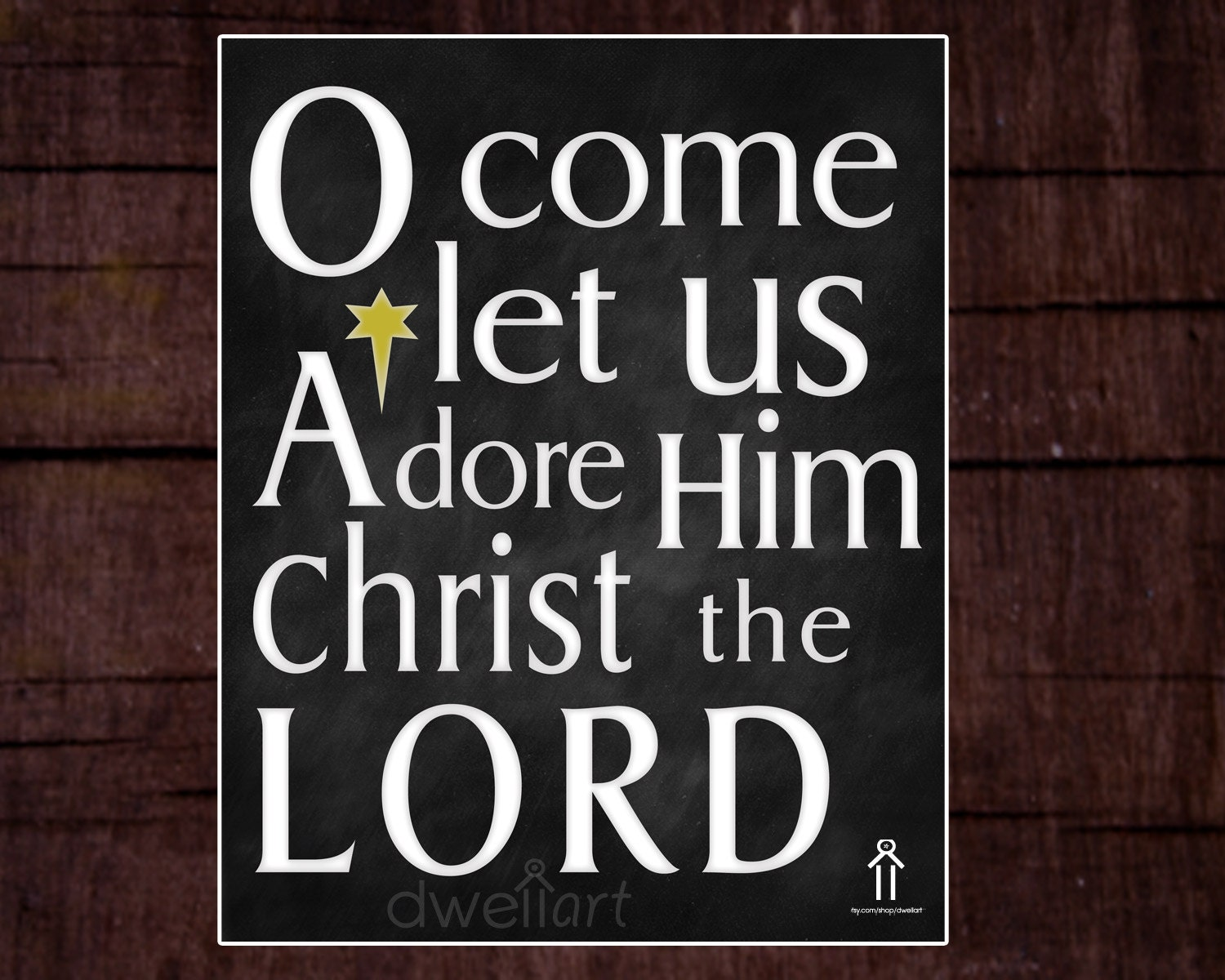 O Come Let Us Adore Him Printable 8x10