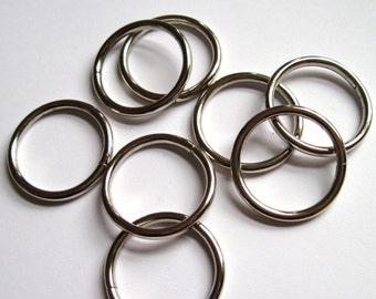 "O rings jump rings 1"" silver"