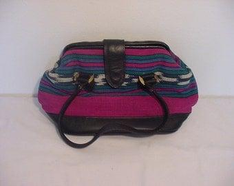 Vintage Mallory Quality Leathers Southwestern Handbag    897