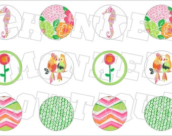 Made to Match Gymboree M2MG Tropi-Cutie bottlecap image sheet