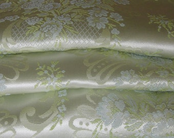 "Satin Brocade Curtains, Hollywood, Mint Condition, Extra wide, 34""w. at top x 94"" w. at bottom x 85""long"