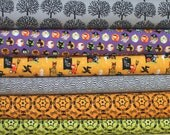 SALE - Halloween Fabric Bundle -  Fat Quarter Bundle - 6 quarter fat pieces (B281)