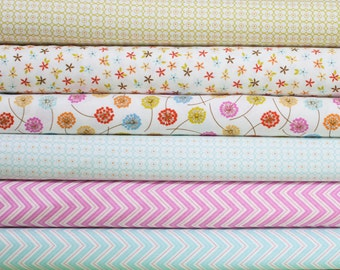 Wrens and Friends from Moda Fabric Bundle -  Half Yard Bundle - 6 Half Yard pieces (B265)