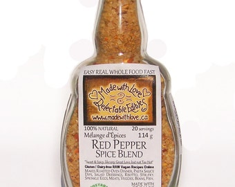 Red Pepper Artisan Spice Blend - 4 oz Medi-size - Gluten Free Dairy Free - Food Market  BBQ Grill Spice - Herb Spice - Sweet Hot Spicy Love