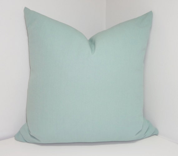 Solid Blue Throw Pillow : Solid Village Blue Decorative Pillow Cover Throw Pillow