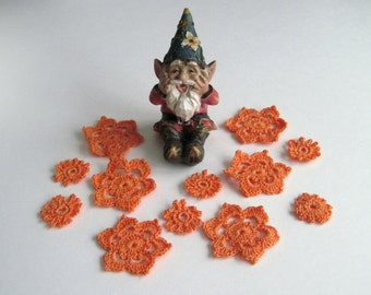 12 Mellon Crochet Flower Motif Embellishment Appliques (Mixed Set of 12)