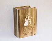 Wedding Ring Box, Ring Bearer Box, Pillow Alternative, Rustic wedding ring box, We Do Personalized Ring Box, Engagement ring holder
