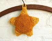 Knitting Pattern Star Ornament Sachet Holiday Decoration Instructions