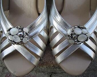 Bridal Rhinestone Shoe Clips Wedding Shoe Accessory -- PARIS AA