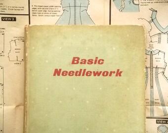 1960s dressmaking book Basic Needlework by Winefride M. Bull