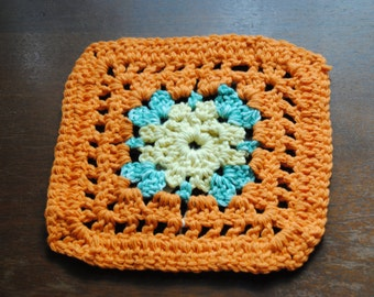 Orange and Green Dish Cloth