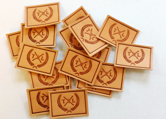 Custom Logo (font) handmade leather labels with debossing effect (Initial Setup Cost for Standard size)